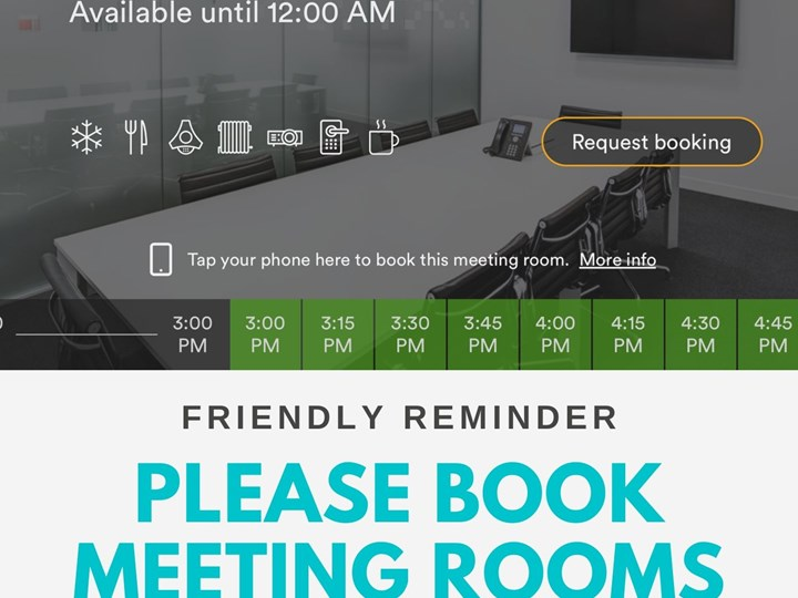 Reminder: Making Bookings